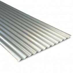 Tôle  ondulée galvanisée 75/100e long 3m