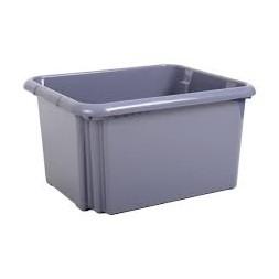 Promobox sans couvercle gris galet 30L