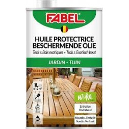 Huile de protection teck et bois 1L - FABEL
