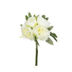 Bouquet de 4 pivoines blancs