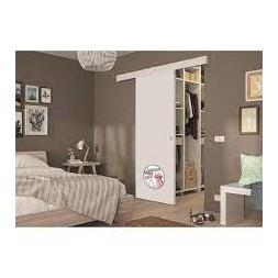 Porte coulissante Mélaminé Blanc à peindre +Profile+Rail - OPTIMUM