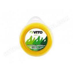 Fil nylon carré pour débroussailleuse 3MM- L 15m - VITO