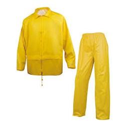 Ensemble de pluie veste + pantalon jaune XL