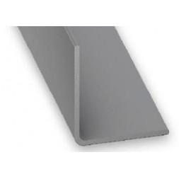 Cornière pvc gris aluminium 20x20mm 1m - CQFD