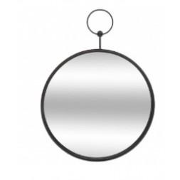 Miroir Gousset métal 30cm- ATMOSPHERA