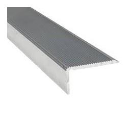 Nez de marche aluminium brut 40 x 15mm x 1m