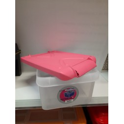 Boîte coffre 15 l pink - PLASTIKEN