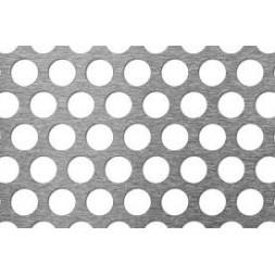 Tôle perforée galvanisée R20/T27 1000 x 2000 x 1mm
