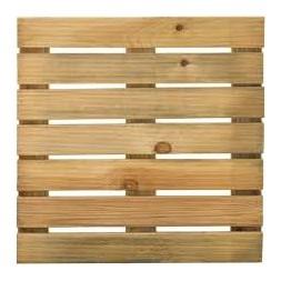 Dalle pin traité classe 3 - 40 x 40 x 2.1cm -BURGER