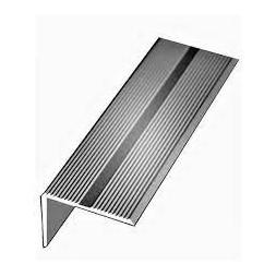 Nez de marche aluminium argent 40 x 15mm x 1m
