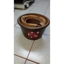 Pot en terre cuite foncée - 3 pièces