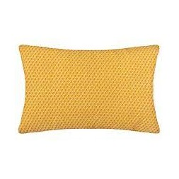 """Coussin motif """"Otto"""" ocre"""