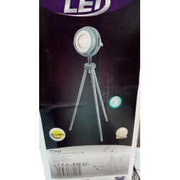Lampe LED métal gris