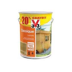 Lasure classique chêne naturel 5L + 20%  - V33