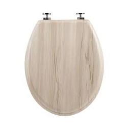 Abattant bois + zinc effet bois clair