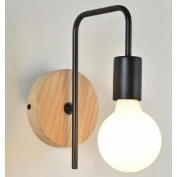 Applique berkley base ronde en bois naturel  E27 - 40W (DEEE 0.80€)