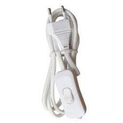 Fil tissu + interrupteur blanc - TIBELEC