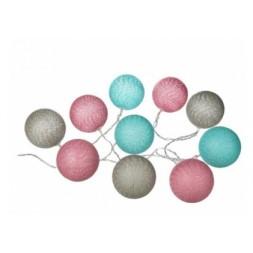 Guirlande LED à piles 10 boules Ø 6cm