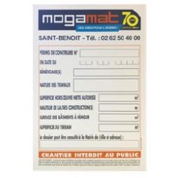 Panneau de chantier - MOGAMAT