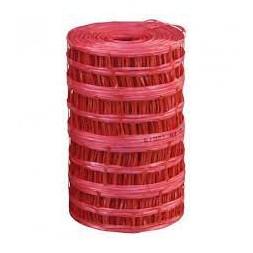 Grillage avertisseur  polyéthylène rouge  rouleau de 100 m x 30 cm