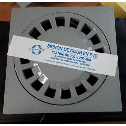 Siphon Cour 200/63 X 80 X 100mm Gris