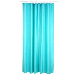 Rideau de Douche Polyester  Turquoise - ATMOSPHERA