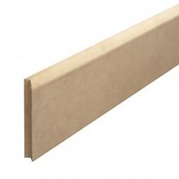 Plinthe arrondie MDF revêtue papier blanc 10x70x2,40m