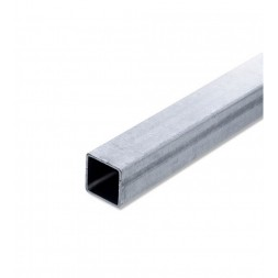 Tube  carré  pré-galvanisé 25 x 25mm épaisseur 1.5mm longueur 6m00