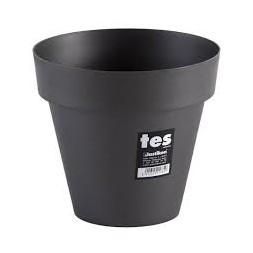 Pot à fleur 40 cm marron - PLASTIKEN