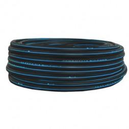 Polyéthylène bande bleue  25x3mm long 50m