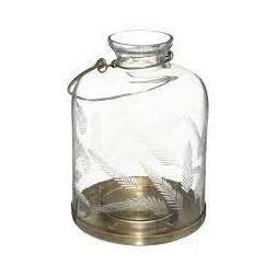Lanterne en verre ciselé