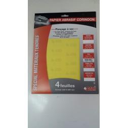 Papier abrasif a sec fin 120 - 4 pièces - OCAI