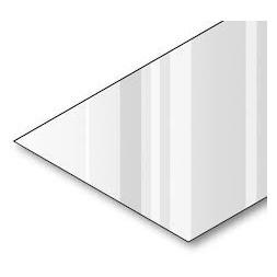Tôle  plane prépeint 2 faces 75/100e  3m x 1m25  blanc