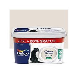 Dulux Valentine crème couleur lin clair 2.5 l