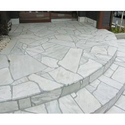 Pierre Naturelle Quartzite White  8/15 mm palette de 42 m²