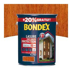 Lasure bois teck 5L + 20% - BONDEX