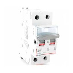 Interrupteur sectionneur bipolaire-63A LEGRAND