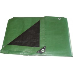 Bâche tarpaulin verte ultra lourde 6 x 10m