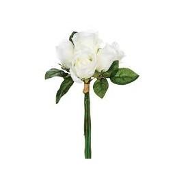 Bouquet de 7 roses blanches
