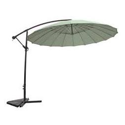 Parasol déporté et inclinable menthe