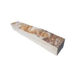 Bordure quartzite cuivre 50 x 8 x 6/8 cm