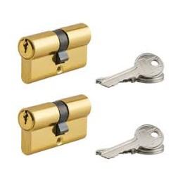 Cylindre paire profilé 30x30mm 6 clés - THIRARD