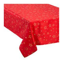 Nappe Tafettas rouge or