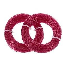 Fil nylon débrousailleuse rose 3.0mm 48m