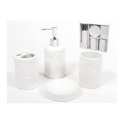 Set de bain blanc 4 pièces - GERIMPORT