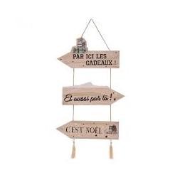 Pancarte de Noël en bois