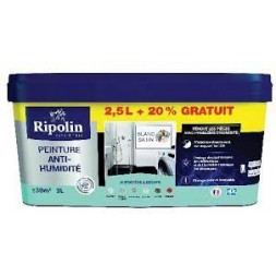 Sous-couche anti-humidité blanc satin 3L - RIPOLIN