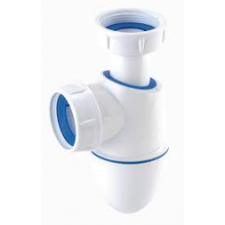 Siphon lavabo bi matière 1 pouce 1/4 sortie 40mm