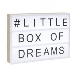 Boîte lumineuse avec cadre en bois A4