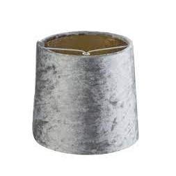 Abat-jour velours gris ø 140mm
